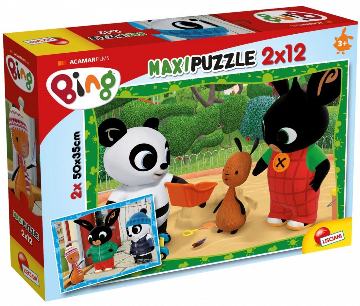 Lisciani Puzzle Maxi 2x12 pieces Bing Friends puzle, puzzle