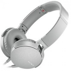 Sony MDR-XB550APW white microphone