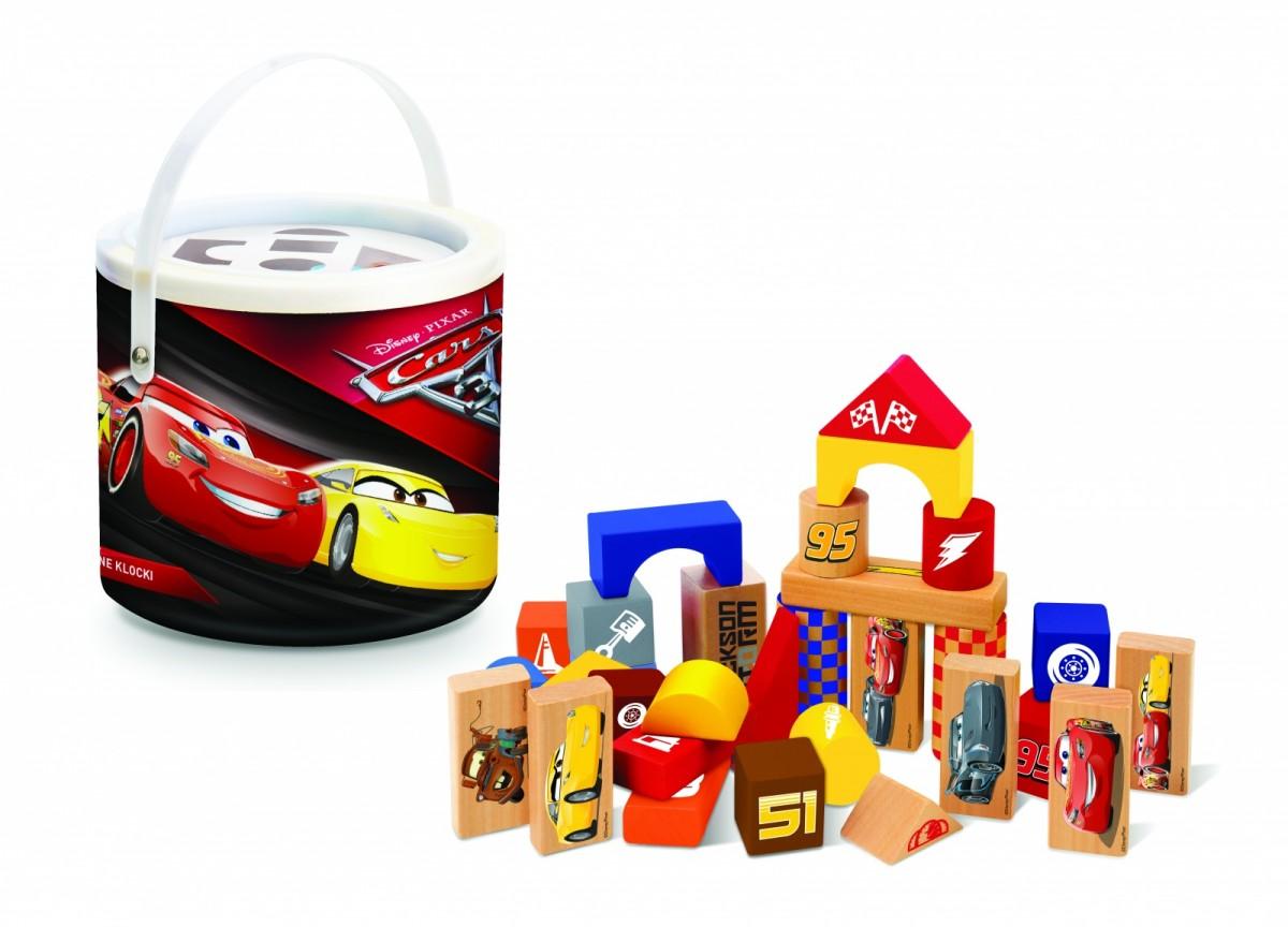 Klocki drewniane 50 elementów - Cars 3 konstruktors