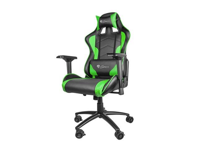 Genesis Gaming chair Nitro 880, NFG-0909, Black- green datorkrēsls, spēļukrēsls