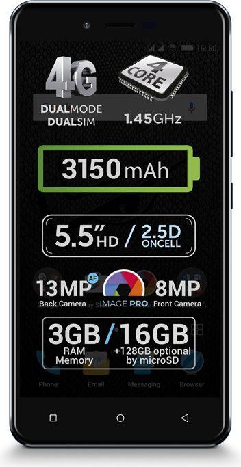 Smartfon AllView V2 Viper XE 16 GB Dual SIM Niebieski  (V2 Viper XE niebieski) V2 Viper XE niebieski Mobilais Telefons