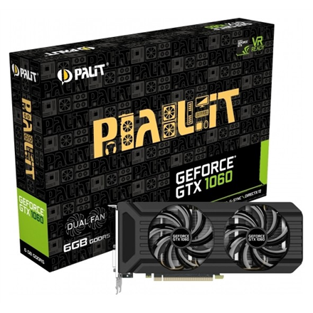 PALIT GeForce GTX 1060 Dual, 3GB GDDR5 (192 Bit), HDMI, DVI, 3xDP video karte