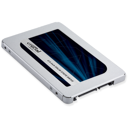 Crucial MX500 500 GB, SSD interface SATA, Write speed 510 MB/s, Read speed 560 MB/s SSD disks