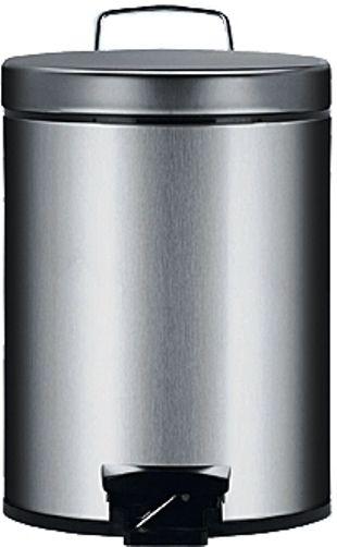 BRABANTIA atkritumu tvertne ar pedāli, 5 l, Matt Steel 288500 atkritumu tvertne
