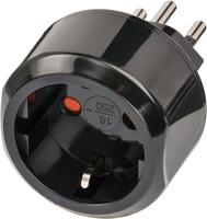 Adapter Travel Brennenstuhl Stecksystem CH/Aufsatz DE Sicher adapteris