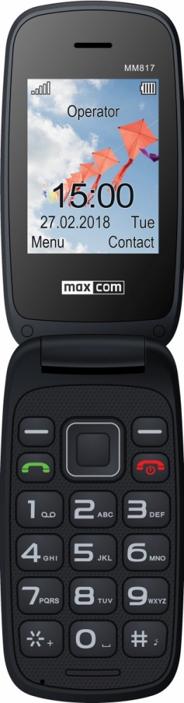 Mobile phone MM 817 black MAXCOMMM817BLACK Mobilais Telefons