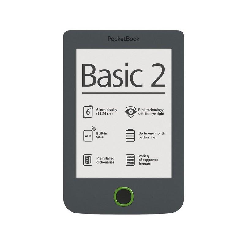 POCKETBOOK Basic 614 dark grey Elektroniskais grāmatu lasītājs