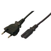 Power supply cable Euro plug Euro 8 jack, 2m CP092 Barošanas kabelis