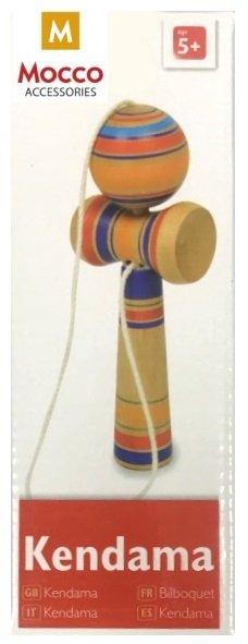 Mocco Compact Kendama Spēle– Varavīksne Koka ECO Naturāls Stils – (6 x 4 x 17 cm)