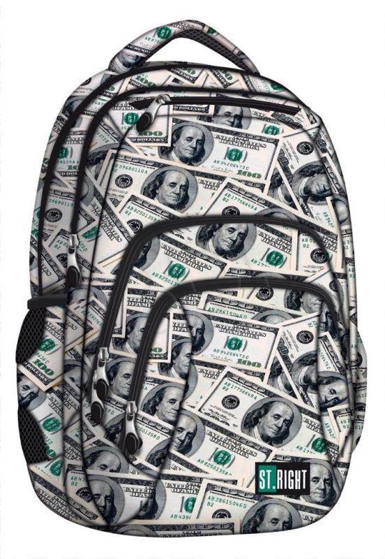 St. Majewski Backpack St.Right Dollars (270724) Skolas somas un penāļi