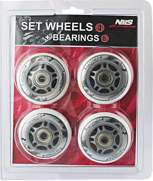 NILS Extreme Wheels PU 72x24 82A white set (16-32-009)