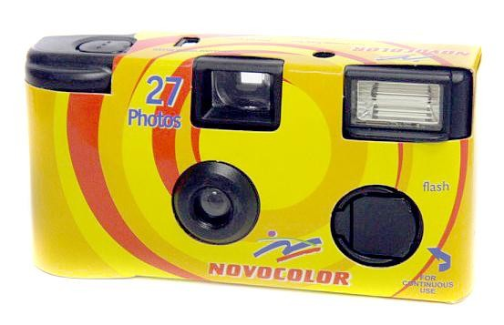 Novocolor vienreizējās lietošanas kamera 400/27 ar zibspuldzi 8420233335434 Digitālā kamera