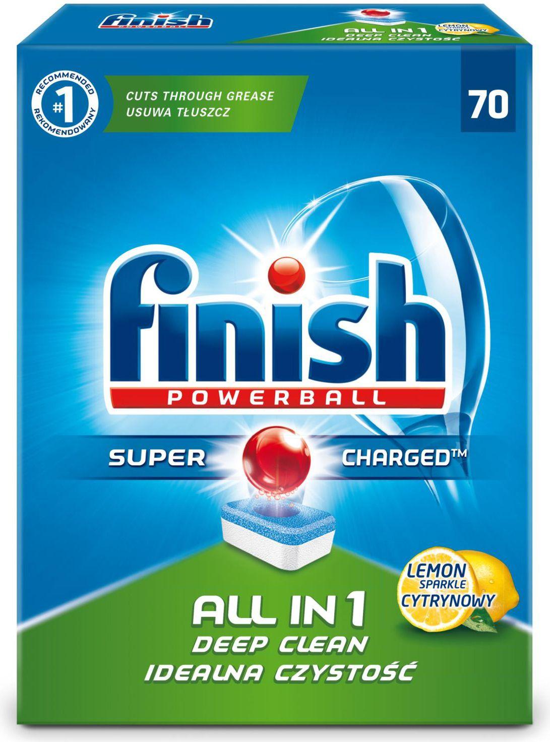 Finish All In One dishwasher tablets lemon 70pcs tīrīšanas līdzeklis