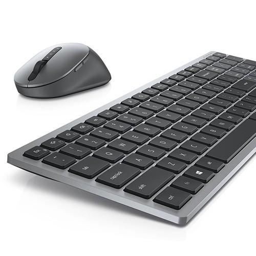 Dell Keyboard and Mouse KM7120W Wireless, 2.4 GHz, Bluetooth 5.0, Keyboard layout US, Titan Gray klaviatūra