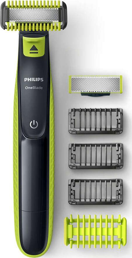Philips Shaver OneBlade QP2620/20 Cordless, Charging time 8 h, Operating time 45 min, Wet use, NiMH, Number of shaver heads/blades 1, Green/ Vīriešu skuveklis