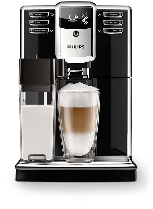 Philips Series 5000 Super-automatic espresso machine EP5360/10 5 Beverages Integrated milk carafe PianoBlack AquaClean Kafijas automāts