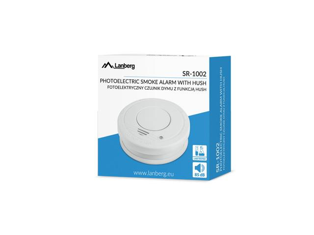 Lanberg Smoke detector (dūmu detektors) SR-1002 (white color)