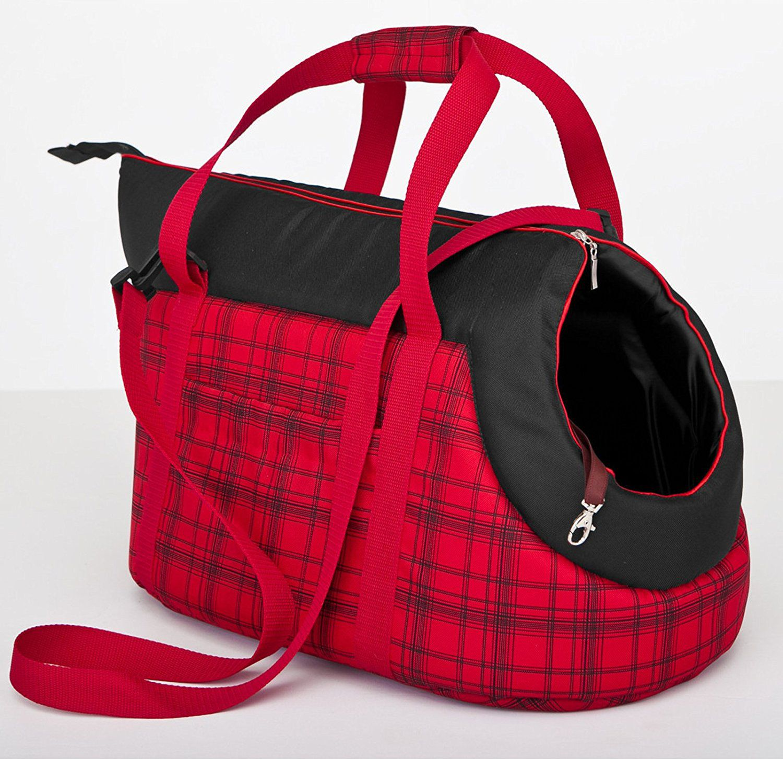 HOBBYDOG R1 RED CHECKED BAG