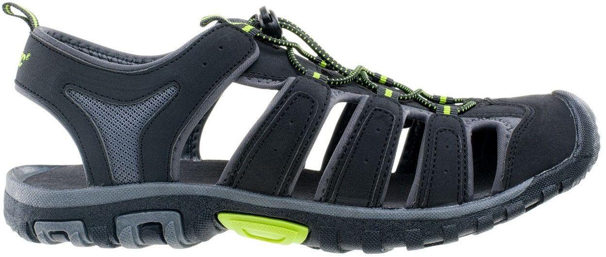 HI-TEC Eritio men's sandals, black and lime, size 46