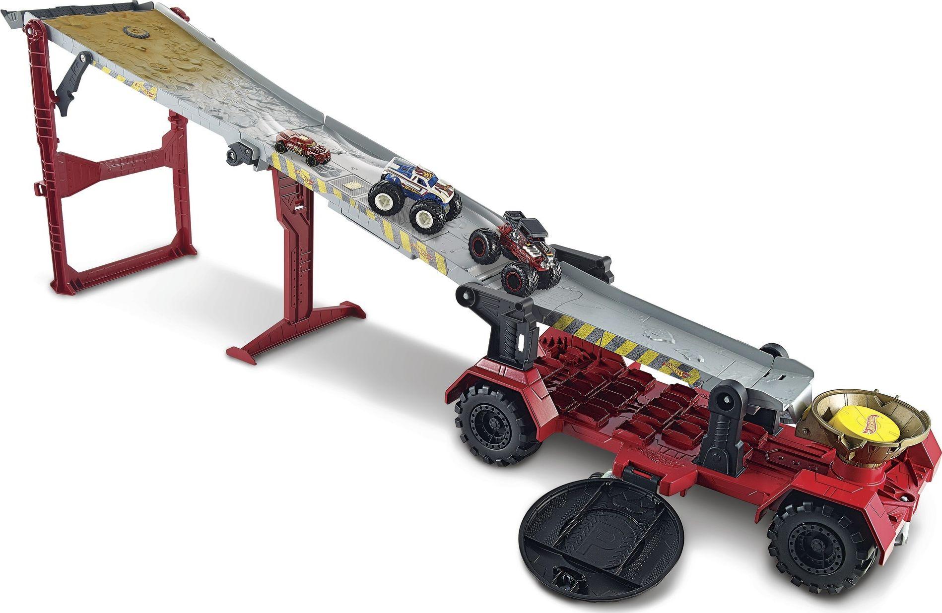 Hot Wheels Monster Trucks Mega Mobile Downhill Play Set GFR15
