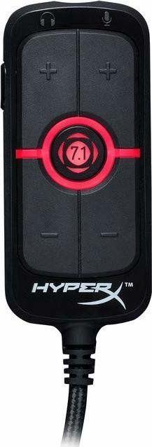 HyperX HyperX amp, sound card(Black / Red) skaņas karte