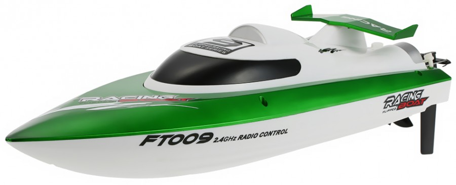 Motorboat FT009 2.4GHz RTR (46cm in length, speed up to 30km/h, 540 class engine) - Green FT009-GRN