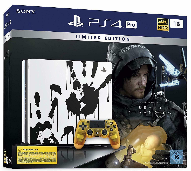 Sony PS4 PRO 1TB black: DEATH STRANDING Limited Edition spēļu konsole