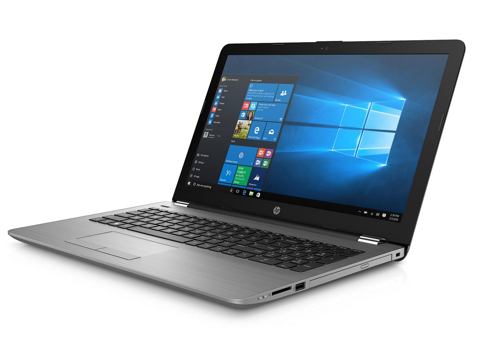 """HP 250 G6 15"""" Matt/i3-7020U/4GB/128GB SSD/DVD/Win10 Pro Portatīvais dators"""