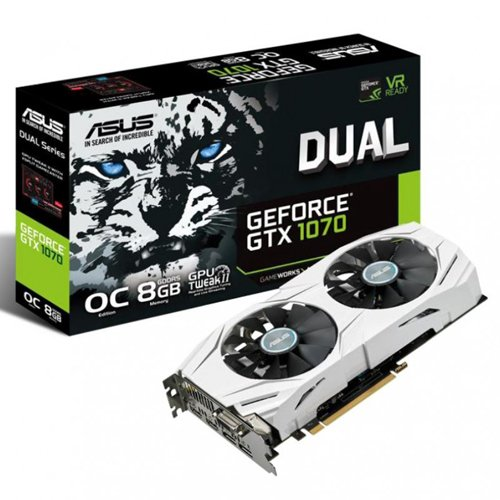 ASUS DUAL-GTX1070-O8G GTX1070 DVI 2xHDMI video karte