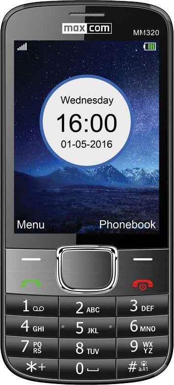 Telefon komorkowy Maxcom MM320 Czarny MAXCOMMM320CZARNY Mobilais Telefons