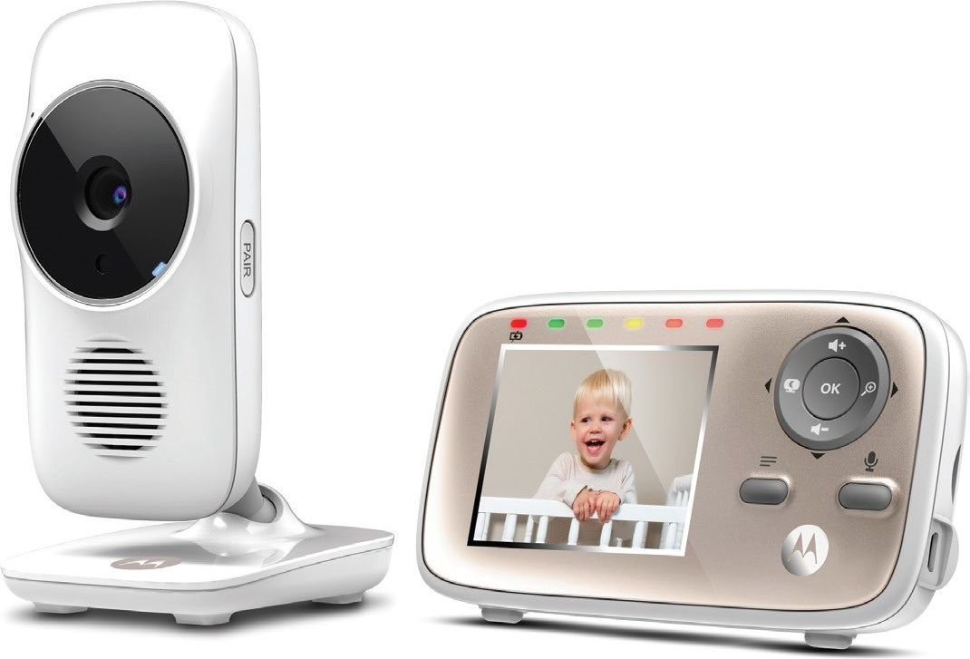 Motorola MBP667 connect White,  Wi-Fi Video Baby Monitor, Wireless Mazuļu uzraudzība