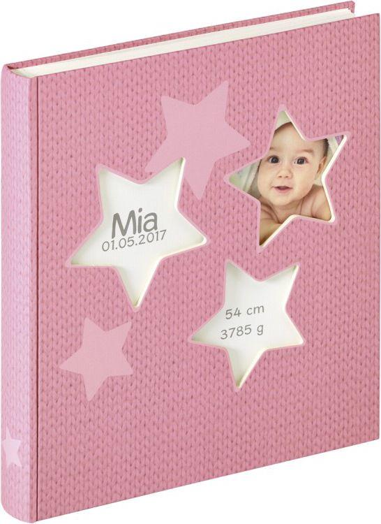 Walther Estrella pink 28x30,5 50 white Pages Babyalbum UK133R