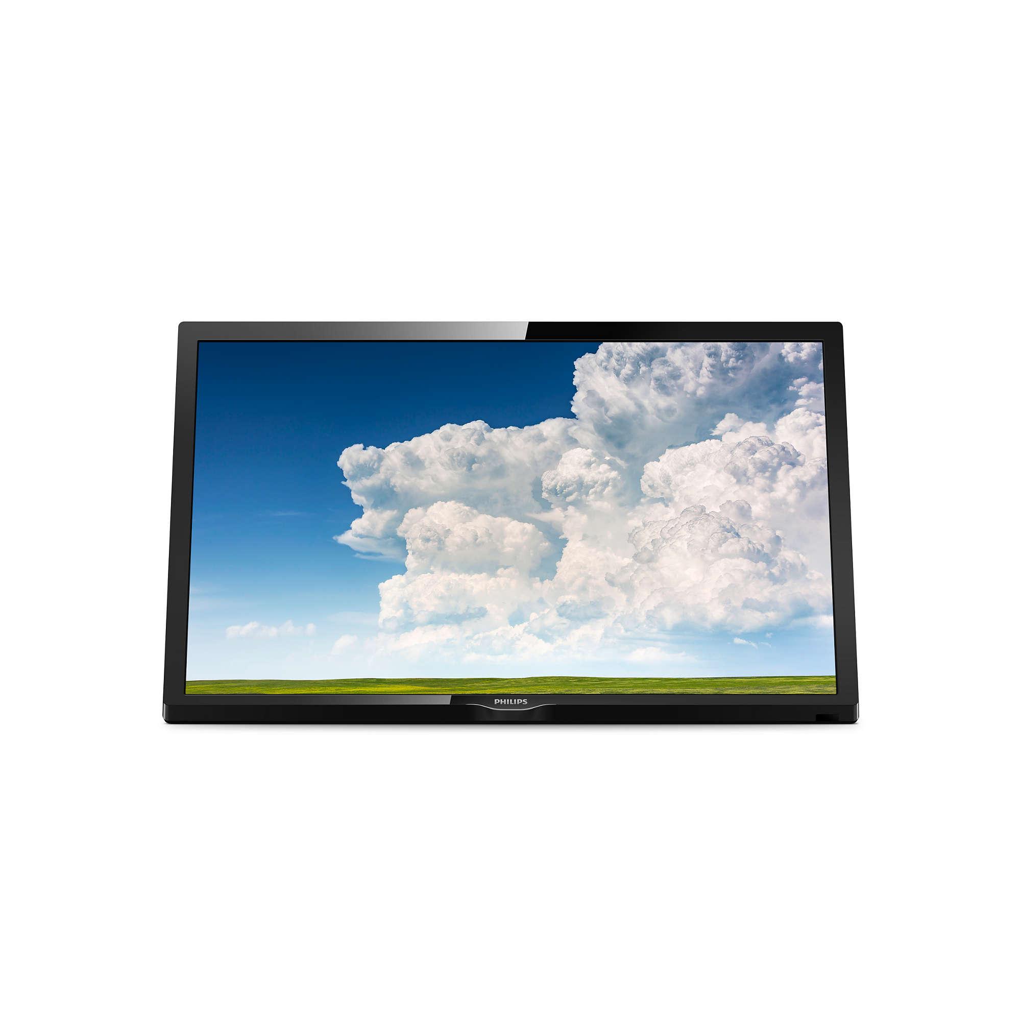 Philips 24PHS4304/12  24 (60 cm), LED HD, 1366 x 768, DVB-T/T2/C/S/S2, Black LED Televizors