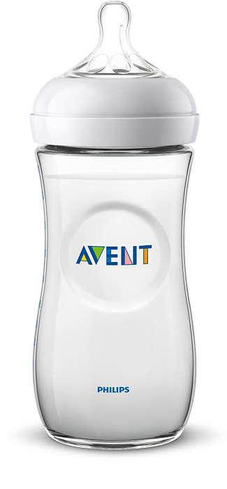 Philips Avent Natural zīdaiņu pudelīte 330 ml, lēnas plūsmas knupītis, 6 m+ SCF036/17 bērnu barošanas pudelīte