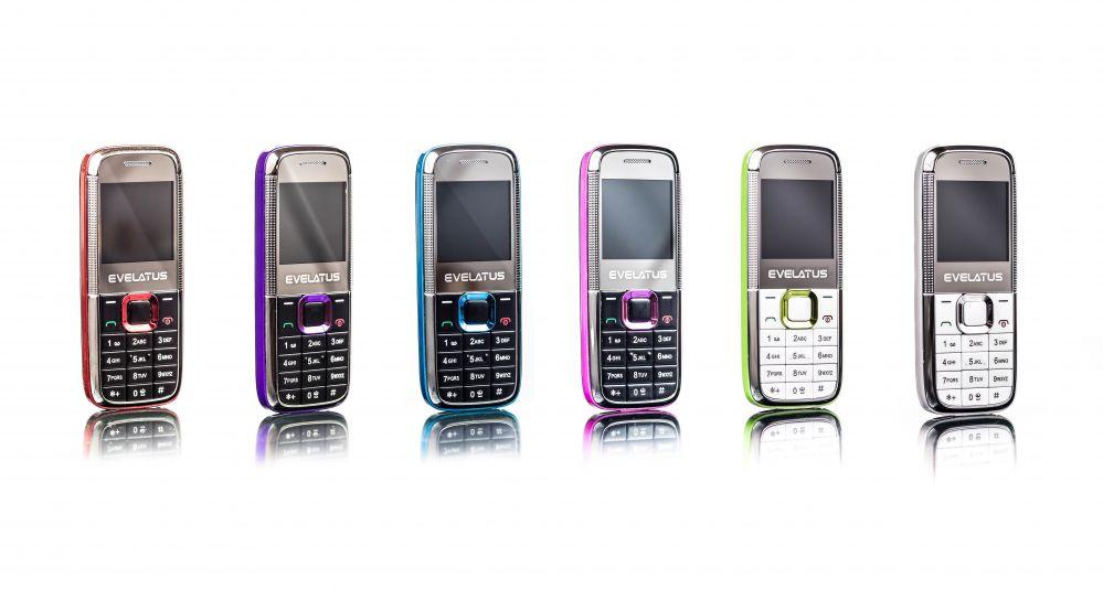 Evelatus  Mini DS (EM01) Black Purple EM01PRL Mobilais Telefons