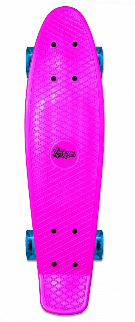 No Rules Skateboard fun skrituļdēlis ar gaismiņām, rozā AU 349