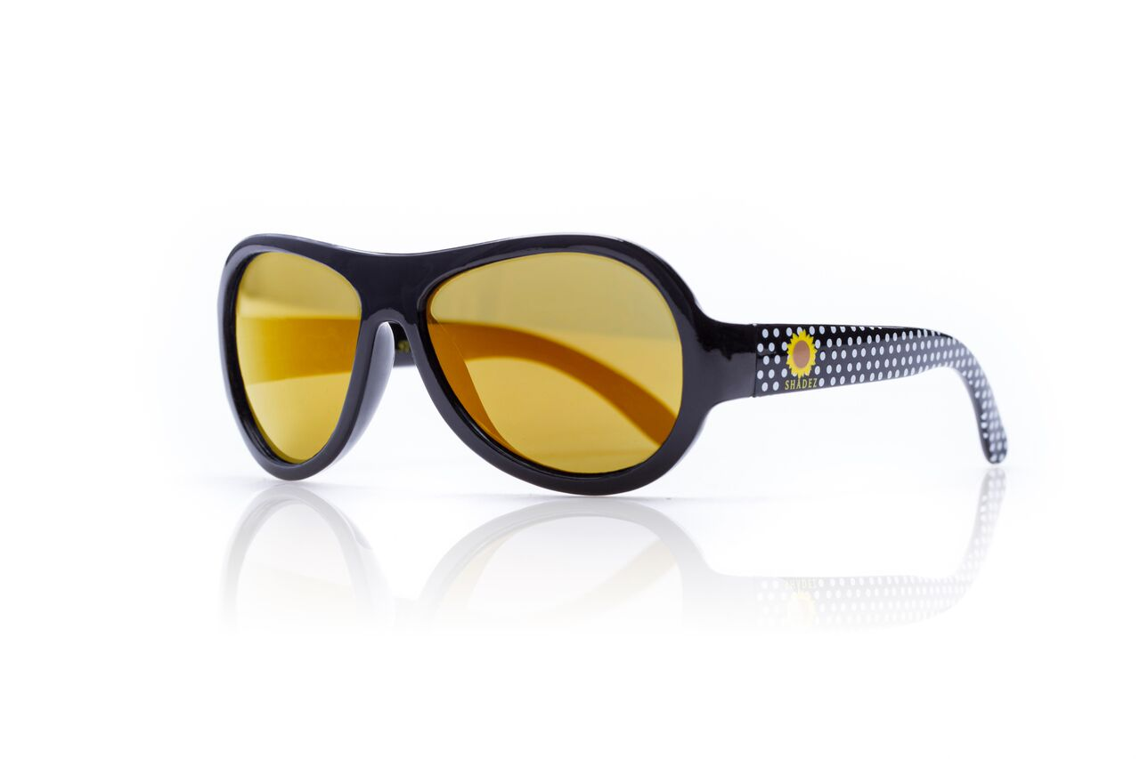 SHADEZ Designer Polka Sunflower Black Junior bērnusaules brilles, 3-7 gadi SHZ 49 saulesbrilles