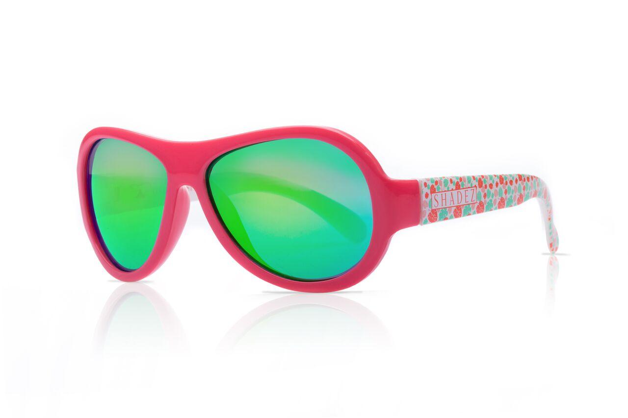 Akcija! SHADEZ Designer Leaf Print Pink Junior bērnu saulesbrilles, 3-7 gadi SHZ 51 saulesbrilles
