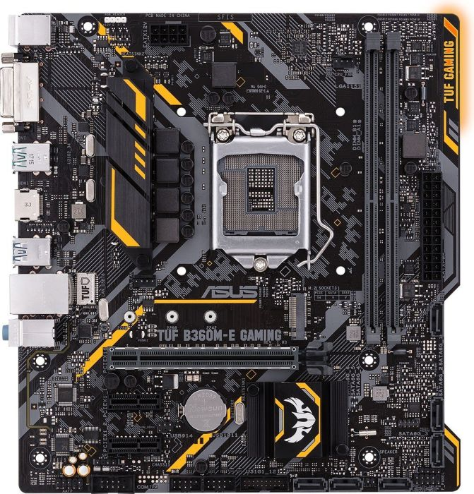 ASUS TUF B360M-E GAMING (Intel,1151,DDR4,ATX) pamatplate, mātesplate