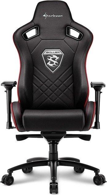 Sharkoon Skiller SGS4 Gaming Seat - black/red - 4044951021727 datorkrēsls, spēļukrēsls