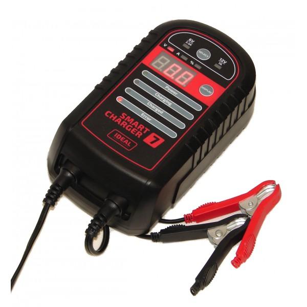 Ideal Prostownik inteligentny do ladowania akumulatorow SMART CHARGER 7 6/12V 7A - SMART7 BW SMART7 auto akumulatoru lādētājs