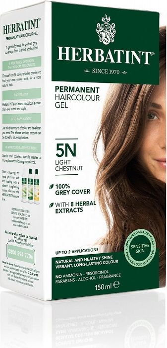 Herbatint Natural Permanent Hair Dye N Series Natural No. 5N - Light Chestnut
