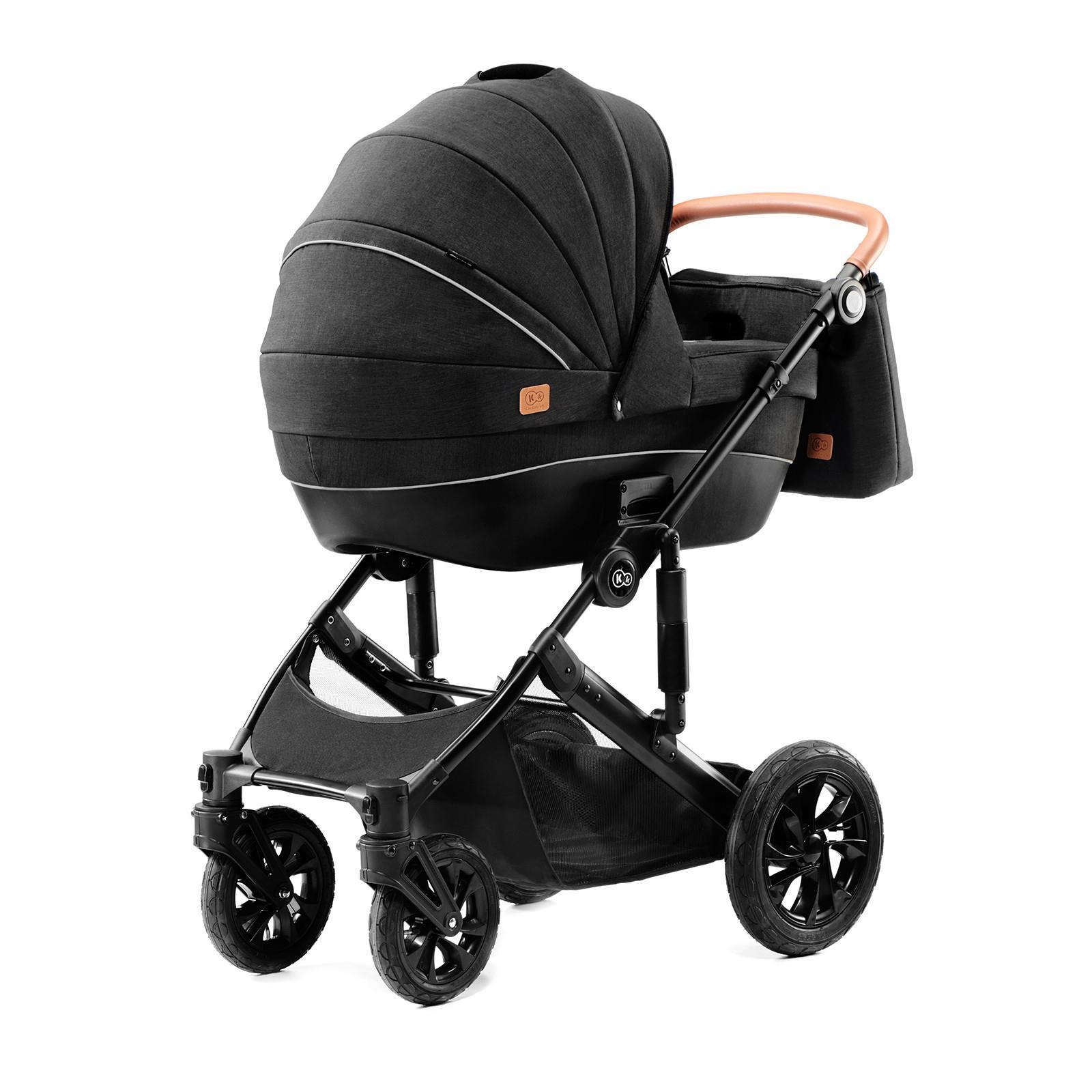 Kinderkraft PRIME z akcesoriami 3w1 black bērnu ratiņi