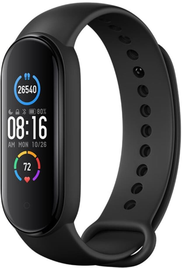 Xiaomi Mi Smart Band 5 Fitness tracker, AMOLED, Heart rate monitor, Waterproof, Bluetooth, Black Viedais pulkstenis, smartwatch