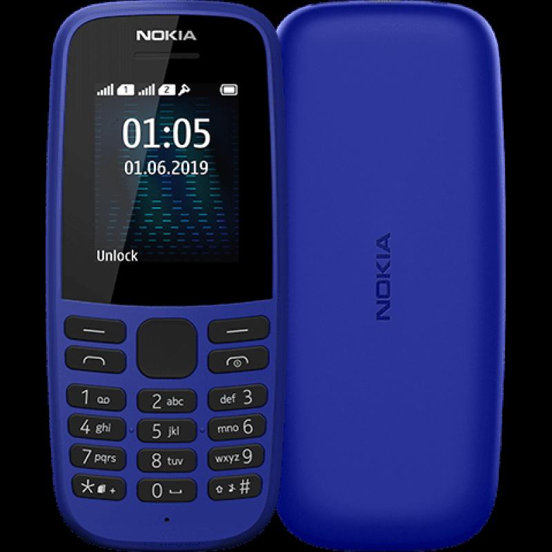 Nokia 105 (2019) Blue Mobilais Telefons