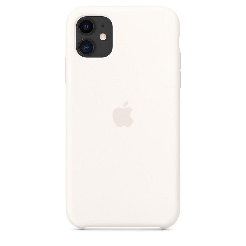 Apple iPhone 11 Silicone Case White                  MWVX2ZM/A maciņš, apvalks mobilajam telefonam