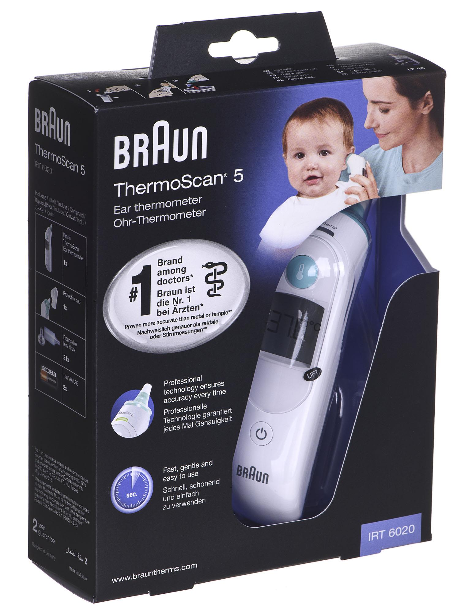 Braun IRT 6020 ThermoScan 5 termometrs