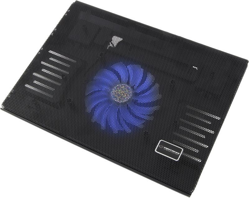 ESPERANZA EA142 SOLANO - Notebook Stand Cooling, Illuminated Fan portatīvā datora dzesētājs, paliknis