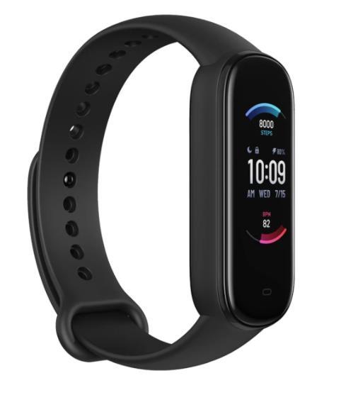 Amazfit Smart Band 5 Fitness tracker, SpO2 sensor, Amazon Alexa Black Viedais pulkstenis, smartwatch