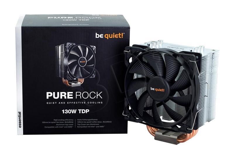 be quiet  Pure Rock CPU cooler 775/1150/1155/1156/1366/2011(-3)/754/939/940/AM2+ procesora dzesētājs, ventilators